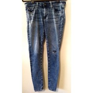 AG ED Denim Middi Ankle Stone Acid Wash Skinny